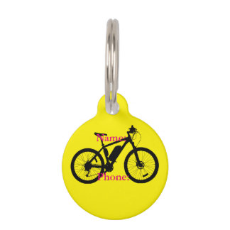 Bicycle Silhouette Pet Tag