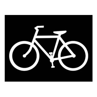 bicycle silhouette postcard