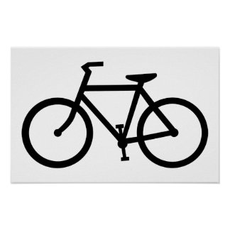 bicycle silhouette poster