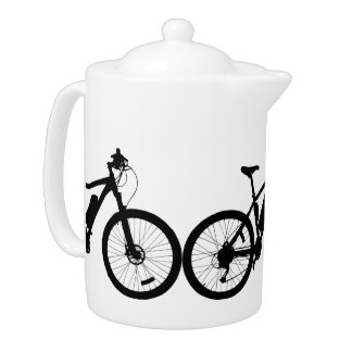 Bicycle Silhouette Teapot