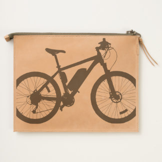 Bicycle Silhouette Travel Pouch