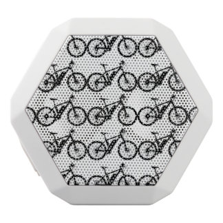 Bicycle Silhouette White Bluetooth Speaker
