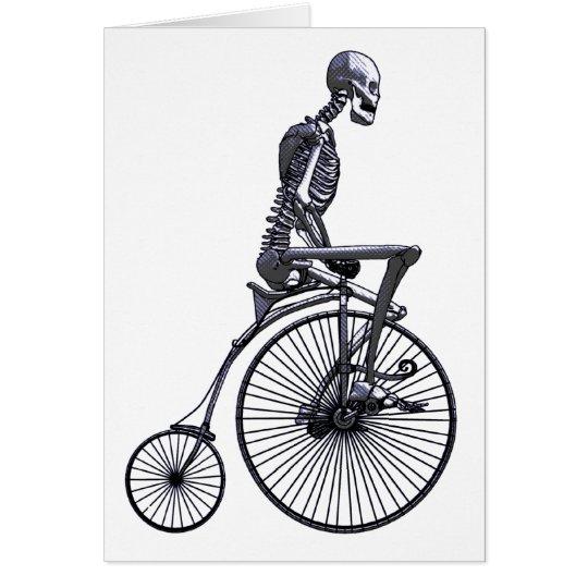Bicycle Skeleton Card