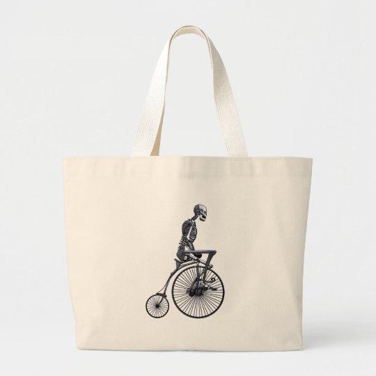 Bicycle Skeleton Large Tote Bag
