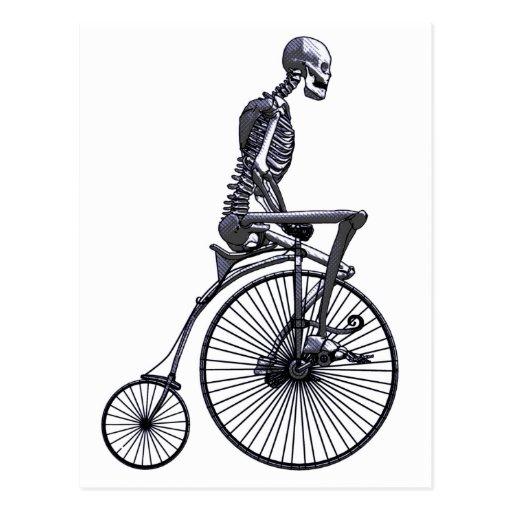 Bicycle Skeleton Postcard