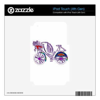 Bicycle Skin For iPod Touch 4G