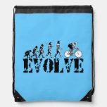 Bicycle Sports Blue Cinch Bag