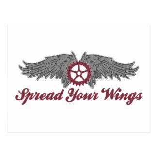 Bicycle Spread Your Wings Ride Postcard