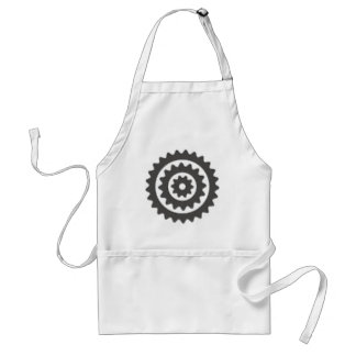 Bicycle Sprockets Adult Apron