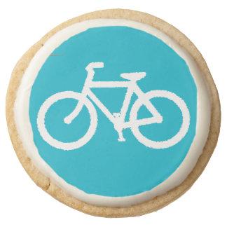 Bicycle Square Shortbread Cookies. Round Premium Shortbread Cookie