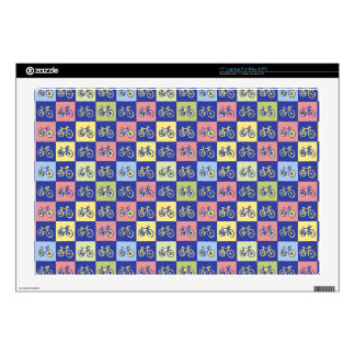 "bicycle squared pattern skins for 17"" laptops"