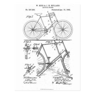 Bicycle Stand US Patent 1895 Postcard