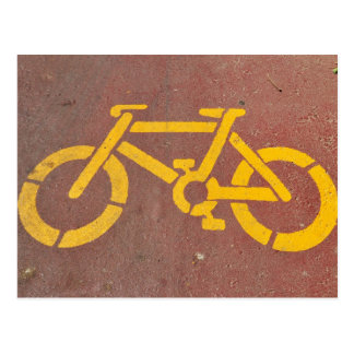 bicycle stencil postcard
