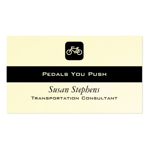 Bicycle symbol double sided standard business cards pack for Business card symbols