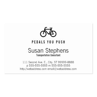 Bicycle Symbol Double-Sided Standard Business Cards (Pack Of 100)