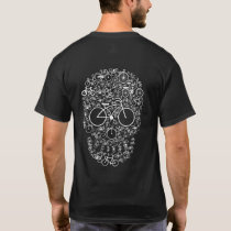 Bicycle Symbology Skull Face T-Shirt