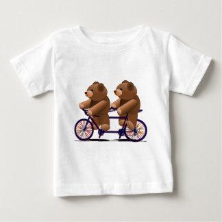Bicycle Tandem, Teddy Bear Print Baby T-Shirt