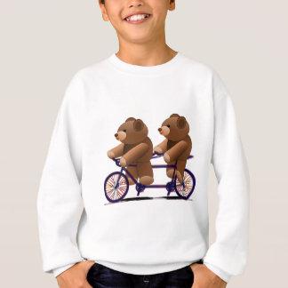 Bicycle Tandem, Teddy Bear Print Sweatshirt