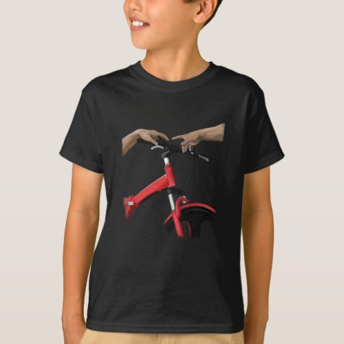 Bicycle The Creation Of Adam Michelangelos Hand T_Shirt