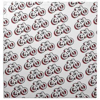 Bicycle tiles pattern lots of bicycle cloth napkin