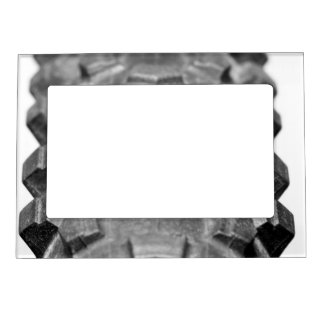 Bicycle Tire Tread Closeup Magnetic Picture Frame