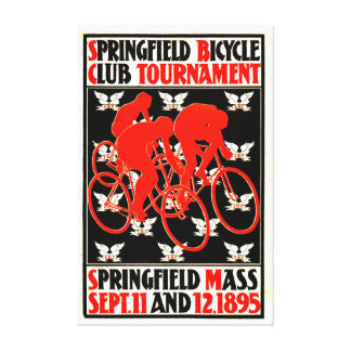 Bicycle Tournament Ad 1895 Canvas Print