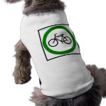 Bicycle Traffic Highway Sign Pet Tee Shirt