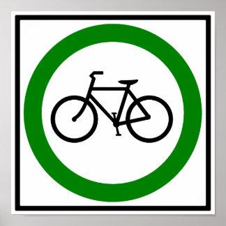 Bicycle Traffic Highway Sign Print