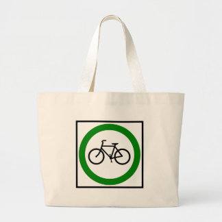 Bicycle Traffic Highway Sign Tote Bags