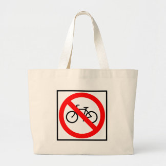 Bicycle Traffic Prohibited Highway Sign Canvas Bag
