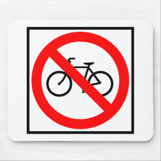 Bicycle Traffic Prohibited Highway Sign Mouse Pad