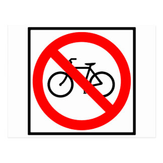 Bicycle Traffic Prohibited Highway Sign Postcard