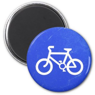Bicycle Traffic Sign Magnet magnet