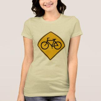 Bicycle Traffic, Traffic Warning Sign, USA Tee Shirts