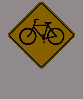 Bicycle Traffic, Traffic Warning Sign, USA Tees