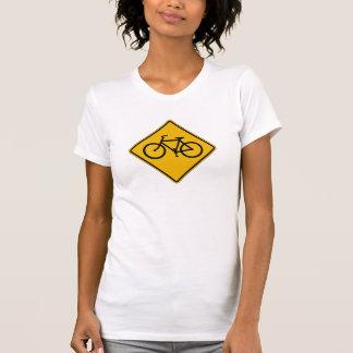 Bicycle Traffic, Traffic Warning Sign, USA T Shirt