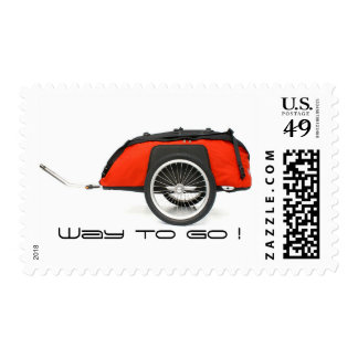 Bicycle travel trailer postage