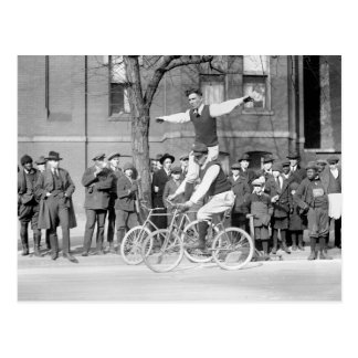 Bicycle Trick Riding, 1920s Post Cards
