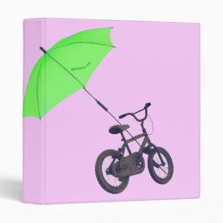 bicycle + umbrella 3 ring binder
