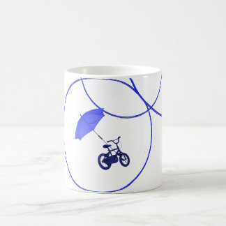 bicycle + umbrella coffee mug