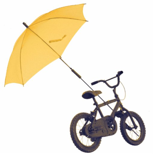 bicycle + umbrella cut out