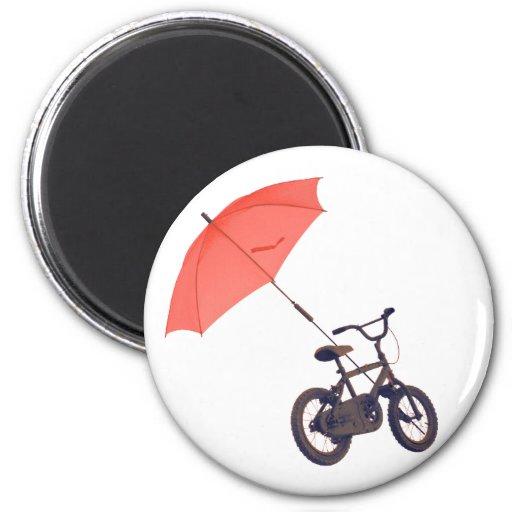 bicycle + umbrella fridge magnets
