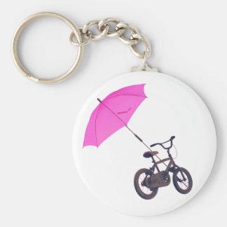bicycle + umbrella keychain