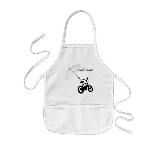 bicycle + umbrella kids' apron