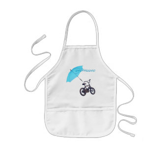 bicycle + umbrella kids' apron