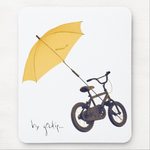 bicycle + umbrella mouse pad
