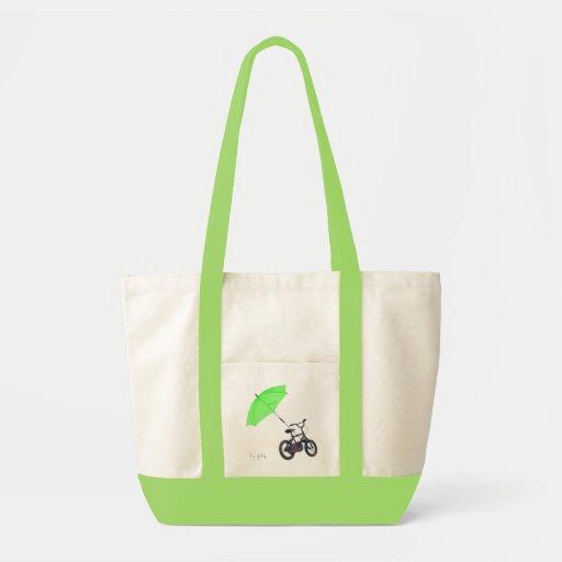 bicycle + umbrella tote bags