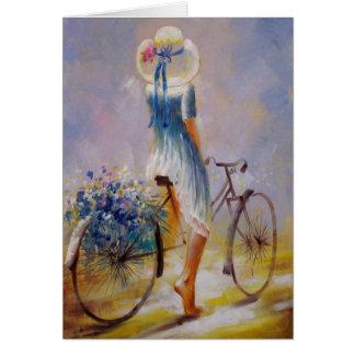 Bicycle Vintage Card