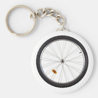 Bicycle wheel keychain