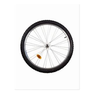 Bicycle wheel postcard